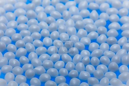 Background of bubbles on blue color