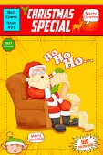 Santa Claus reading wish list for Christmas