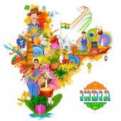India background showing its incredible culture and diversity with monument dance festival