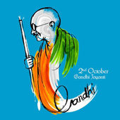 India background for 2nd October Gandhi Jayanti Birthday Celebration of Mahatma Gandhi