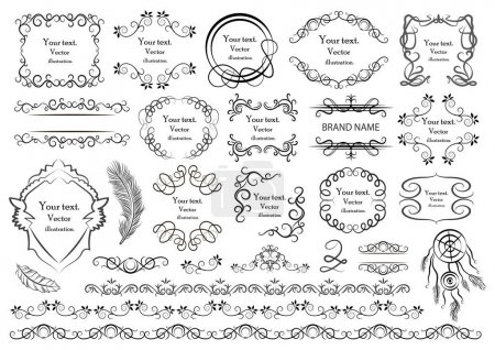 Illustration for Set of vector graphic elements for design - Royalty Free Image