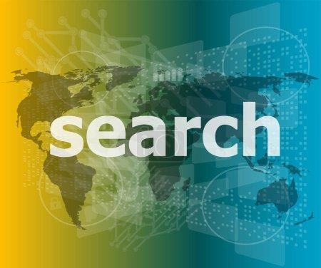 Photo pour Concept de développement web SEO : mots Recherche sur fond numérique - image libre de droit