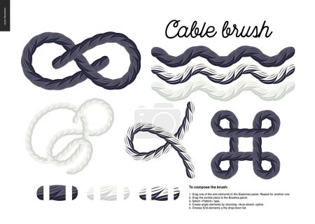 Cable brush set