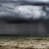 Dark stormy horizon.