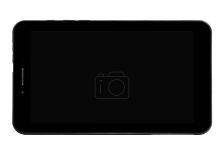 Tablet device black front black screen