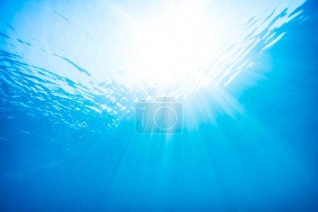 Blue water underwater background
