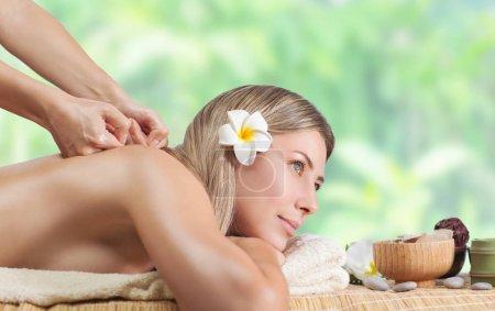 Female enjoying massage