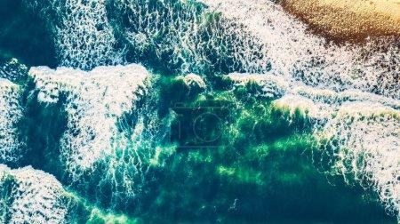 Aerial view of the ocean