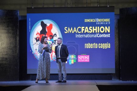 Photo for Italy : Smac Fashion International Contest, Defile' Roberto Caggia, at Salerno, November 10, 2019. - Royalty Free Image