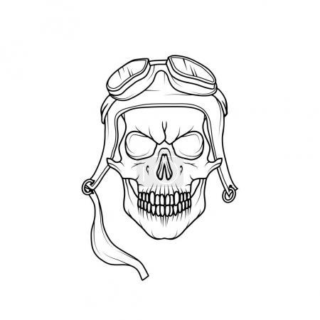 Vector Image skull pilot