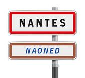 Nantes road signs entrance