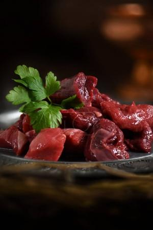 Raw Venison and Beef