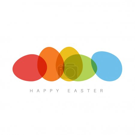 Easter card with color eggs