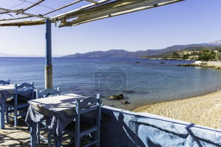 Tavern by the sea in village in Peloponesse