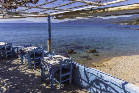 Tavern by the sea in little village in Peloponesse