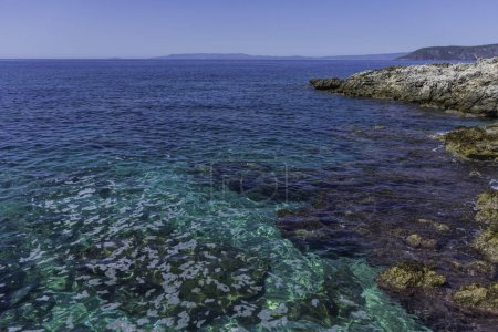 Beautiful seascape near a village in Peloponesse
