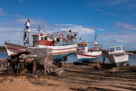 Fishing boats in Fuseta