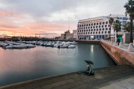 Marina with recreational boats