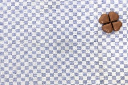chocolate hearts on fabric