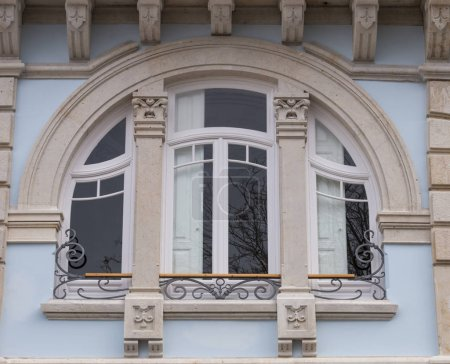 FARO, PORTUGAL; 4th March, 2018 - Belmarco palace details located in Faro city, Portugal.