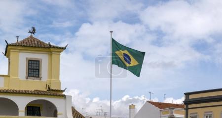 FARO, PORTUGAL: 4th of March, 2018 - Consulate-General of Brasil building located in Faro city, Portugal.