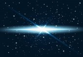 Star explosion in black space Vector