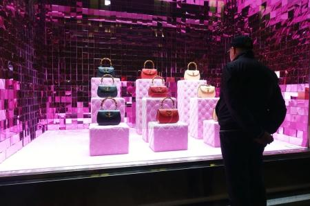Window display of Gucci fashion