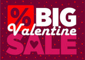 valentine day big sale sign for stickers card banner background boutique vector illustration
