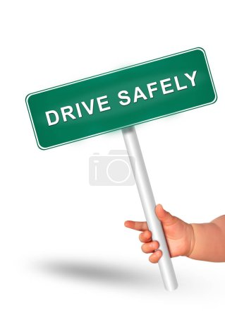 Photo for Drive safety concept. Secure driving, - Royalty Free Image