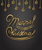 Veselé Vánoce zlaté třpytky nápisy