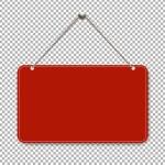 Red door sign, vector, illustration...
