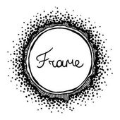 Black hand drawn frame ( vector)