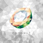 Polygonal Coconut : Vector Illustration