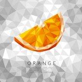 Polygonal Orange : Vector Illustration
