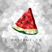 Polygonal Watermelon : Vector Illustration