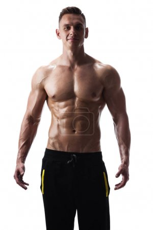 athletic man posing