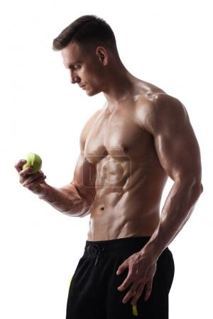 Athletic male with apple