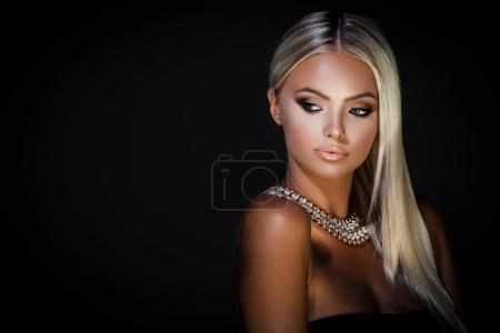 Jewelry on dark