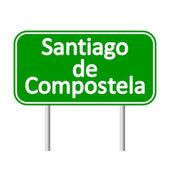 Santiago de Compostela road sign