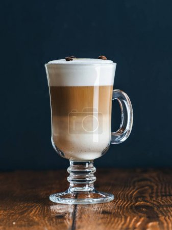 freshly made latte macchiato