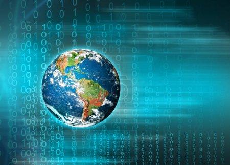 Photo pour Meilleur Concept d'Internet des affaires de concepts série, connexion symboles des lignes de communication. Éléments de cette image fournie par la Nasa - image libre de droit