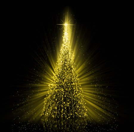 Christmas gold Tree background