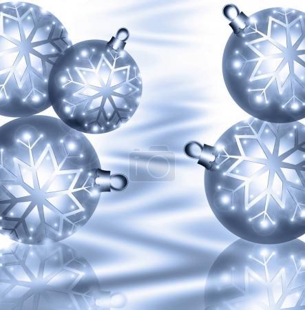 Christmas background blue balls