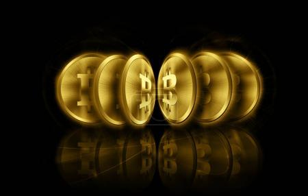Digital currency bitcoin, futuristic digital money, Internet Concept of global business.Technological background