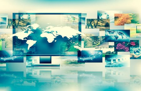 Television and internet technology concept