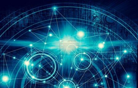 Best Internet Concept of global business.Technological backgroun