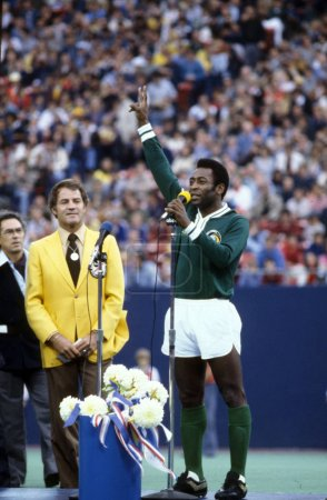 Pele and last game for New York Cosmos
