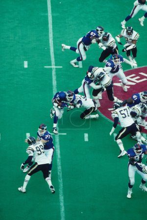 Pro Football Game Action at a NFL game.