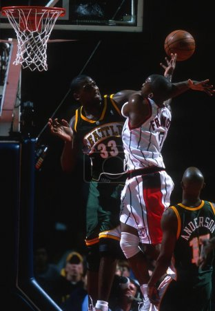 Jerome James of the Seattle Super Sonics