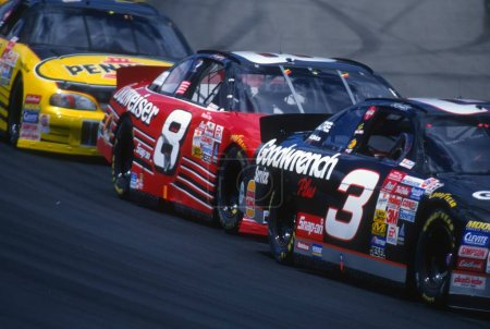 Dale Earnhardt and Dale Earnhardt Jr NASCAR Father and Son Race Car Drivers.